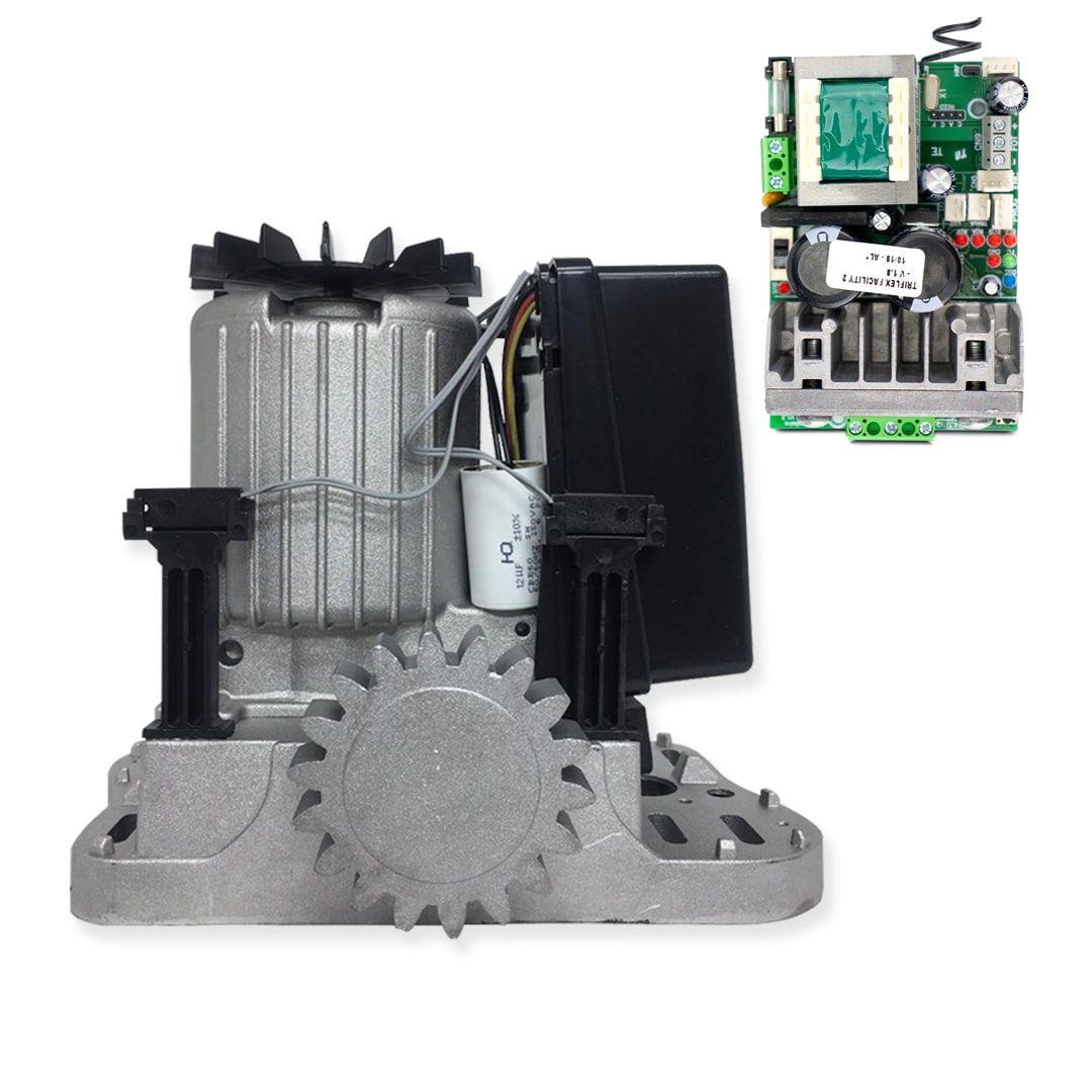 Kit Motor de Portão Eletrônico PPA Dz Rio R600 1/3 Jet Flex Facility