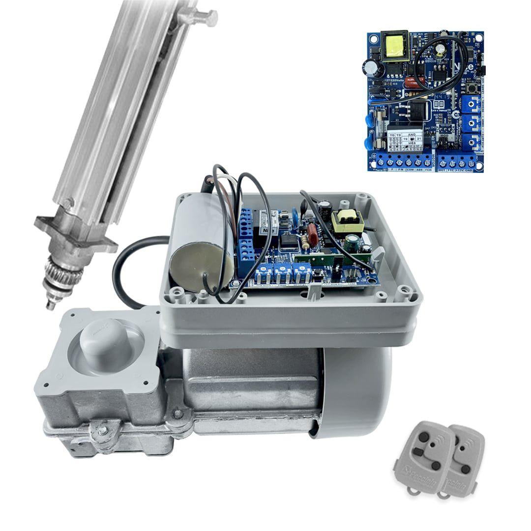 Kit Portão Eletrônico Basculante Peccinin Fast Gatter Suportes Trava