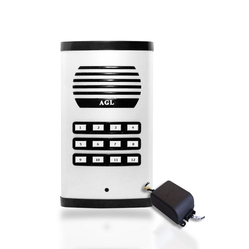 Kit Porteiro Eletrônico Coletivo AGL Com 12 Monofones