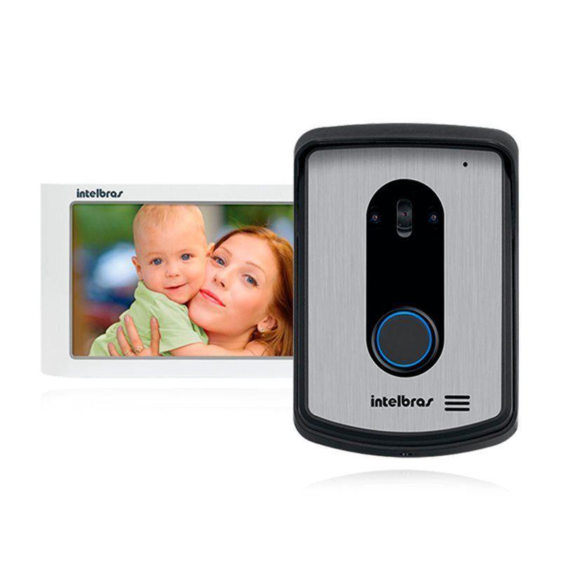 Kit Vídeo Porteiro Interfone Intelbras IV 7010 HF Viva Voz