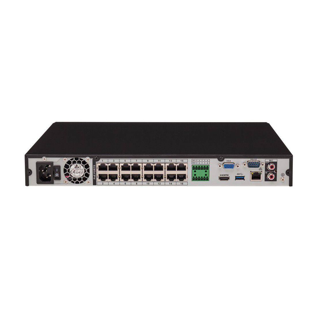 NVR Gravador de Vídeo IP Intelbras NVD 3116 P Poe 16 Canais