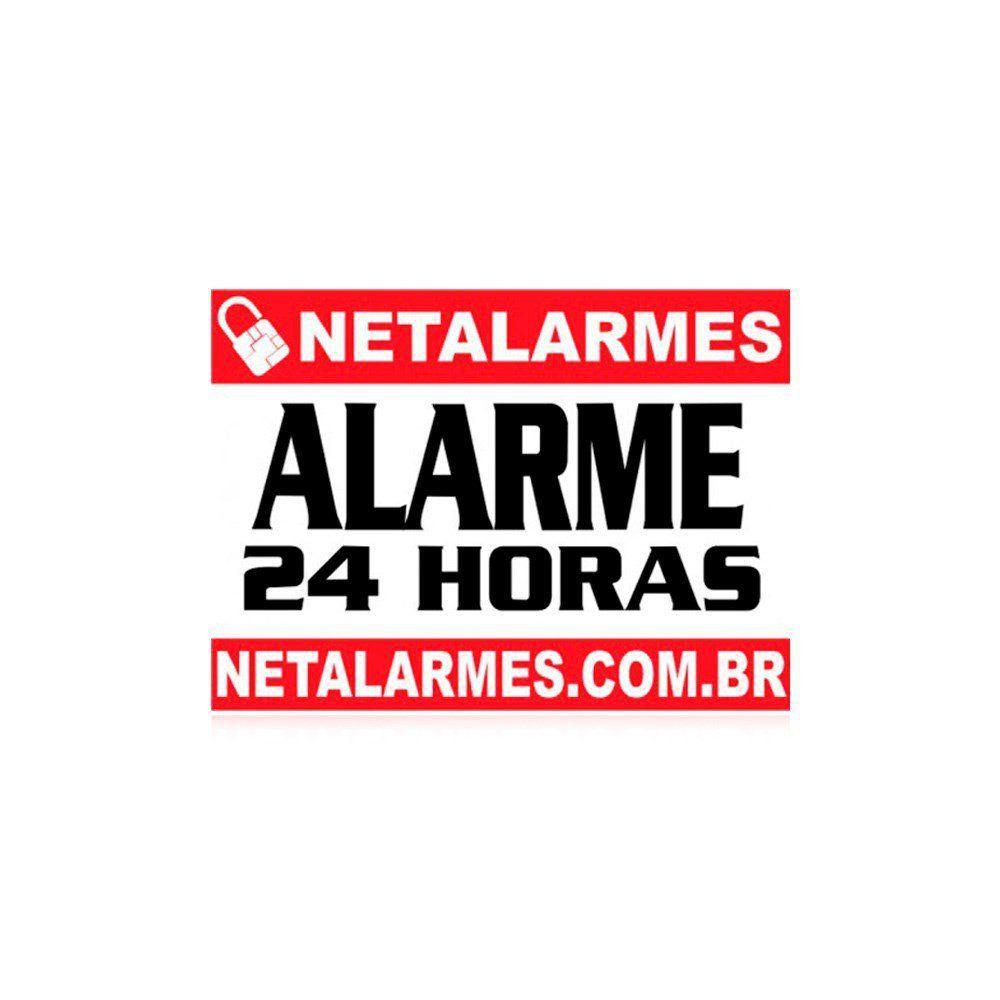 Placa de Advertência Alarme 24 horas | Netalarmes