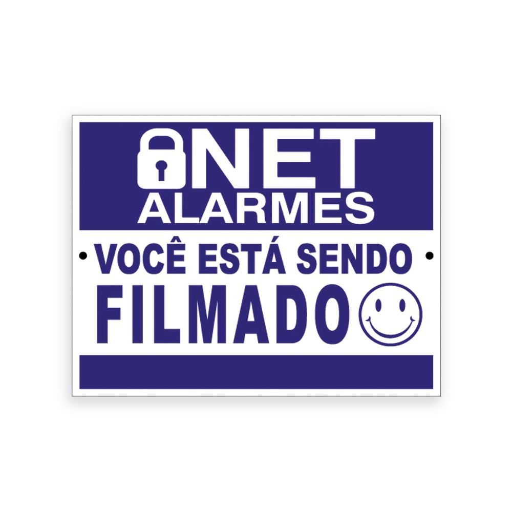 Placas de Advertência Você Está Sendo Filmado| NetAlarmes