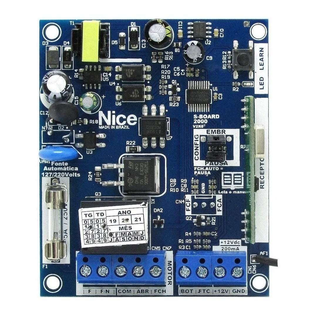 Placa Peccinin Central de Comando S Board 2000 para Motor de Portão Eletrônico Peccinin