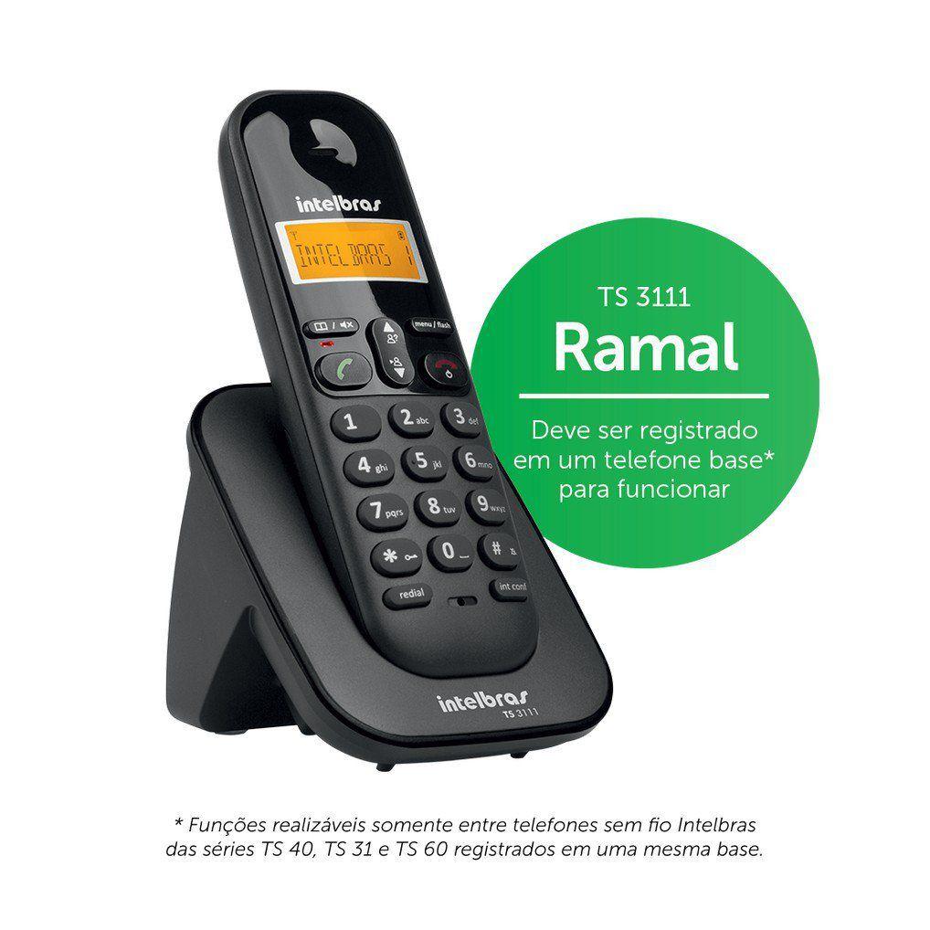 Ramal Sem Fio Intelbras TS 3111 Digital