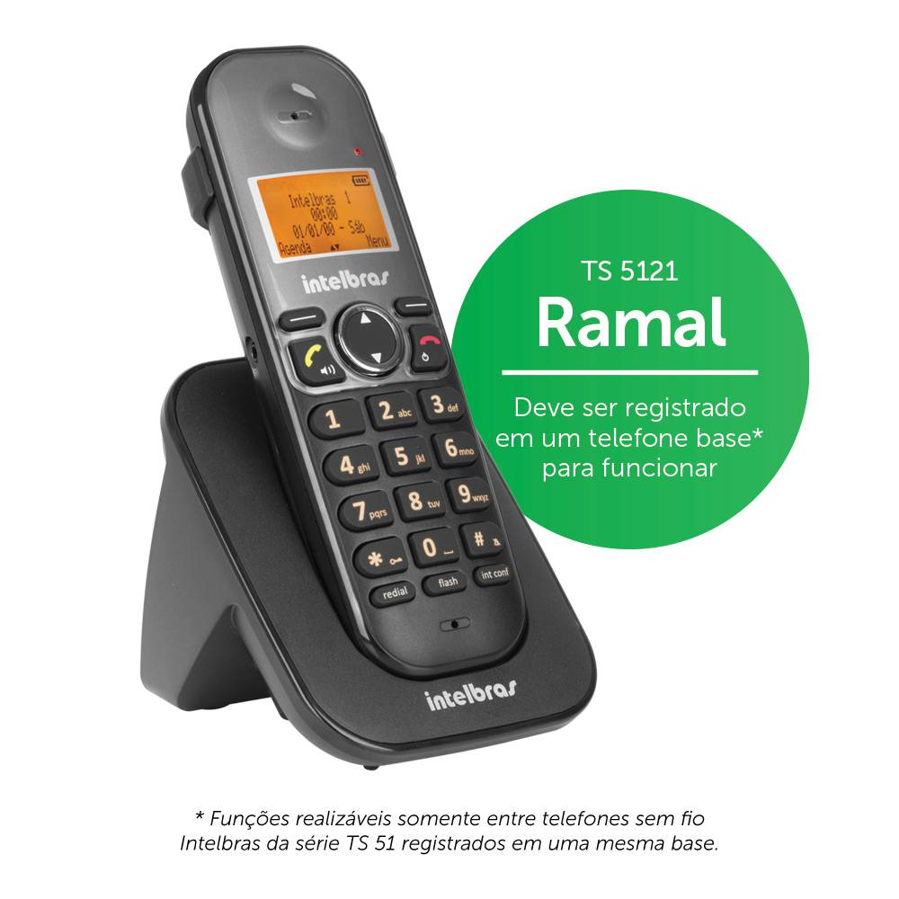 Ramal Sem Fio Digital Intelbras TS 5121