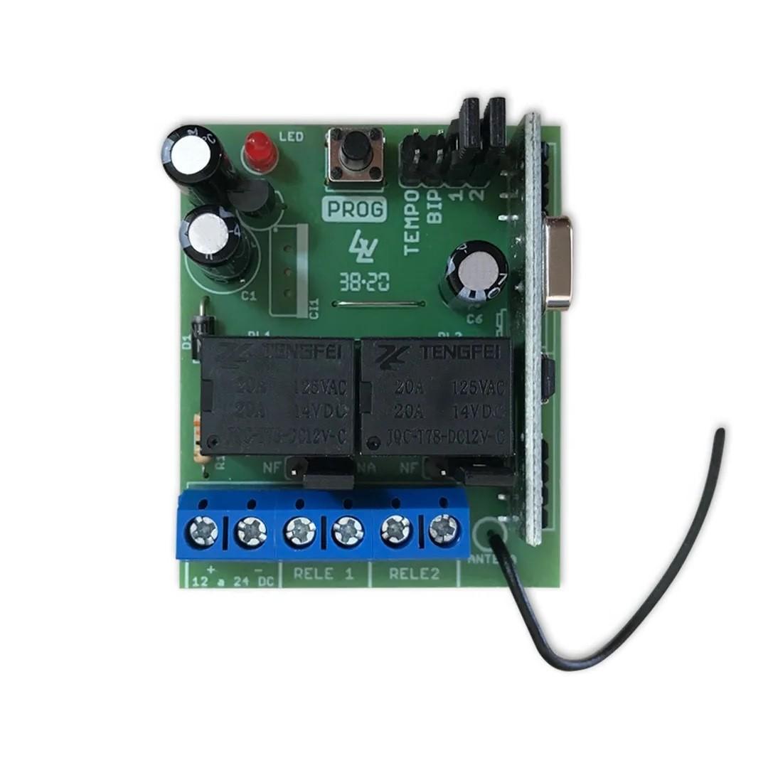 Receptor Hombrus RXP-11 2 Canais 433,92 Mhz Fixo e Rolante