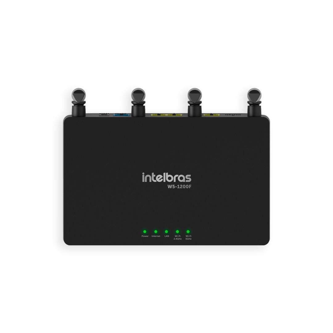 Roteador Wi-Fi Intelbras W5-1200F Wi-Force Dual Band AC 1200