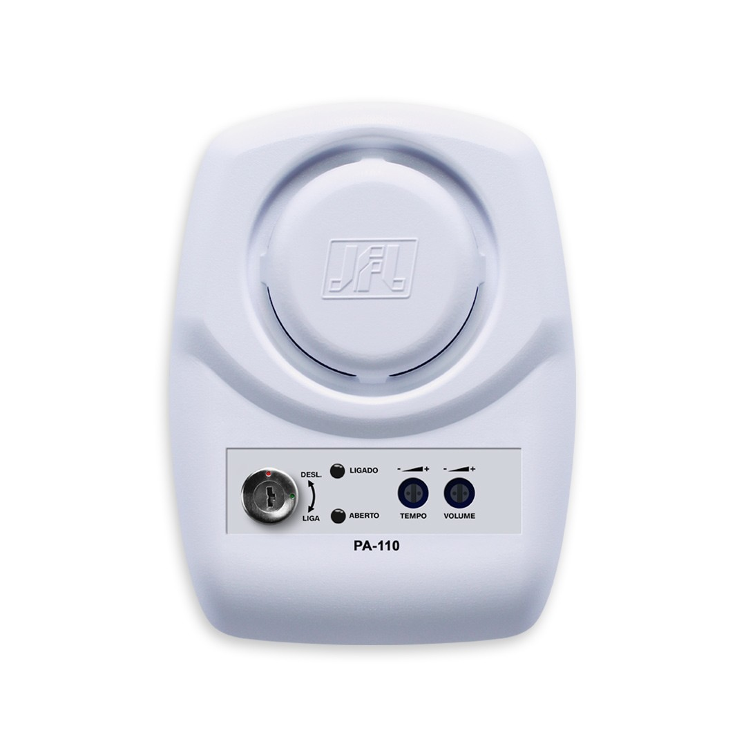 Sensor de Porta Aberta JFL PA 110 com Controle de Tempo e Aviso Sonoro