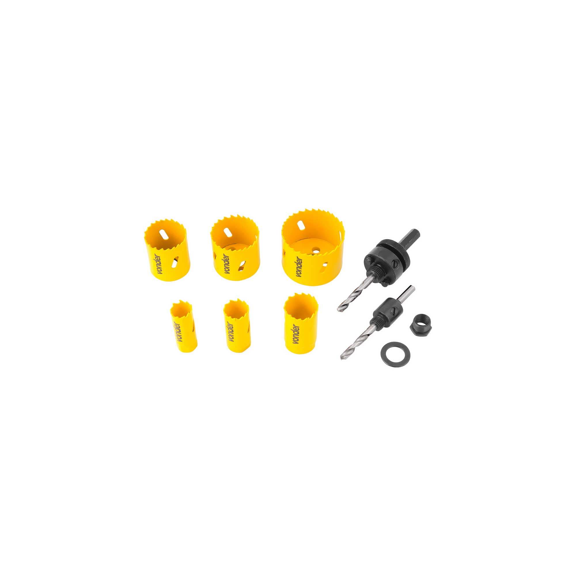 Serra Copo de Aço Rápido Bimetal Vonder SCV 200 Com 9 Peças