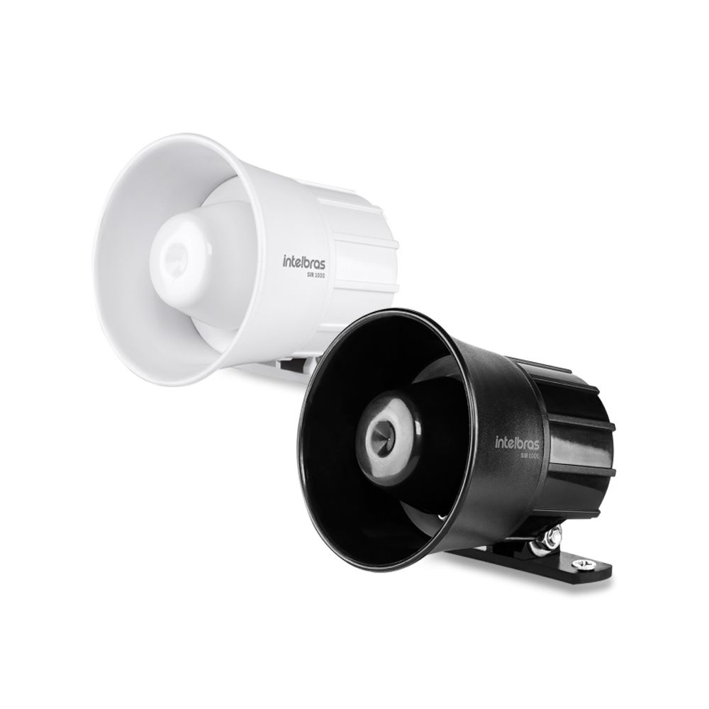 Sirene Intelbras SIR 1000 105 dB para Sistema de Segurança