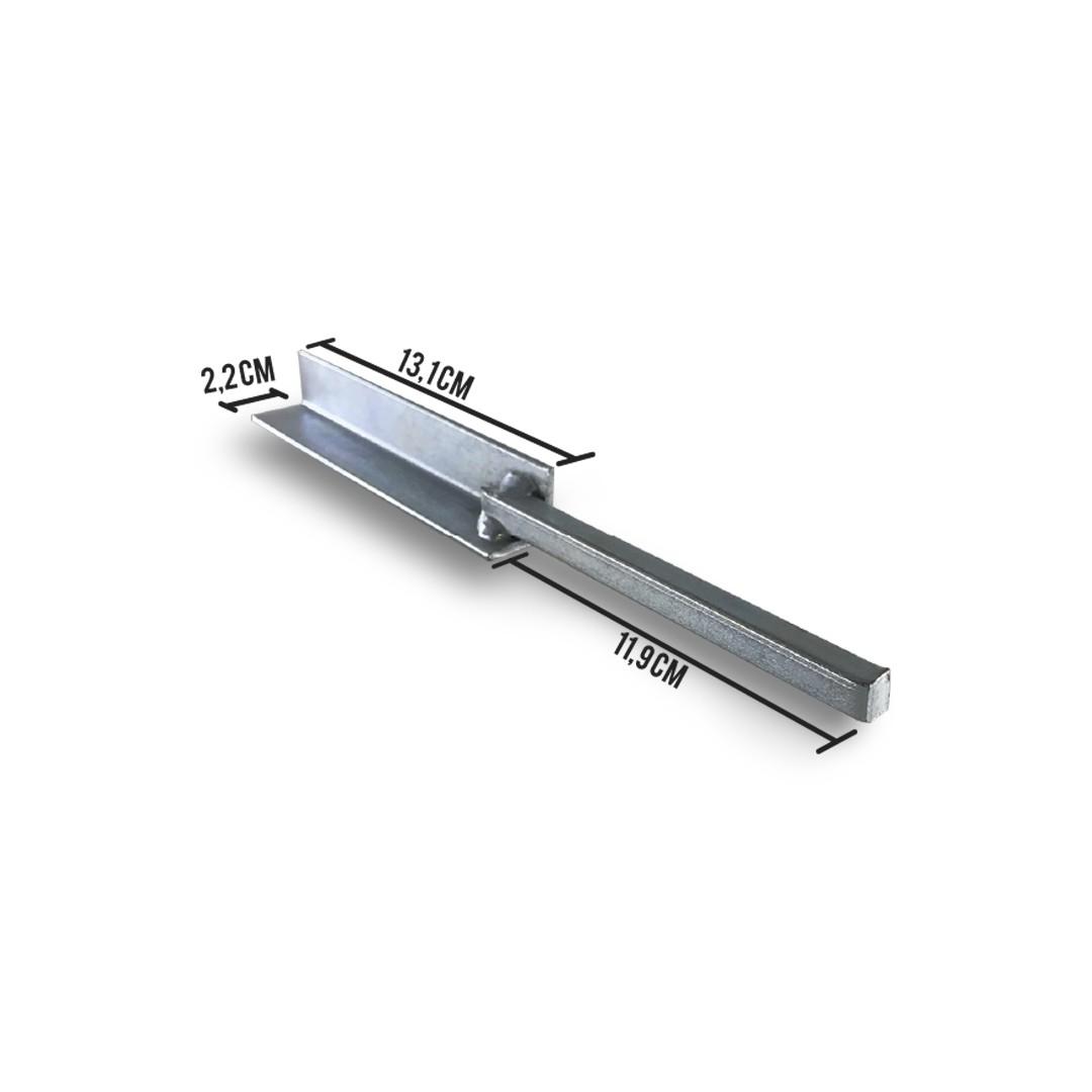Suporte Chumbador de Ferro para Big Haste Industrial 25x25mm