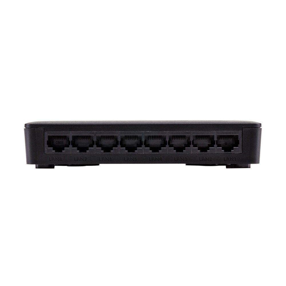 Switch 8 portas Fast Ethernet Intelbras SF 800 VLAN Ultra