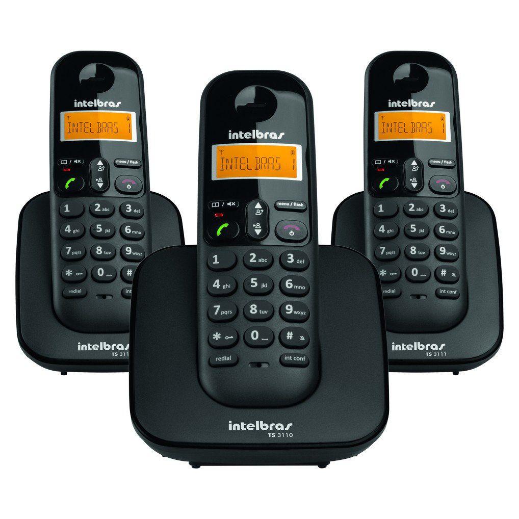 Telefone Sem Fio com 2 Ramais Intelbras TS 3113 Digital