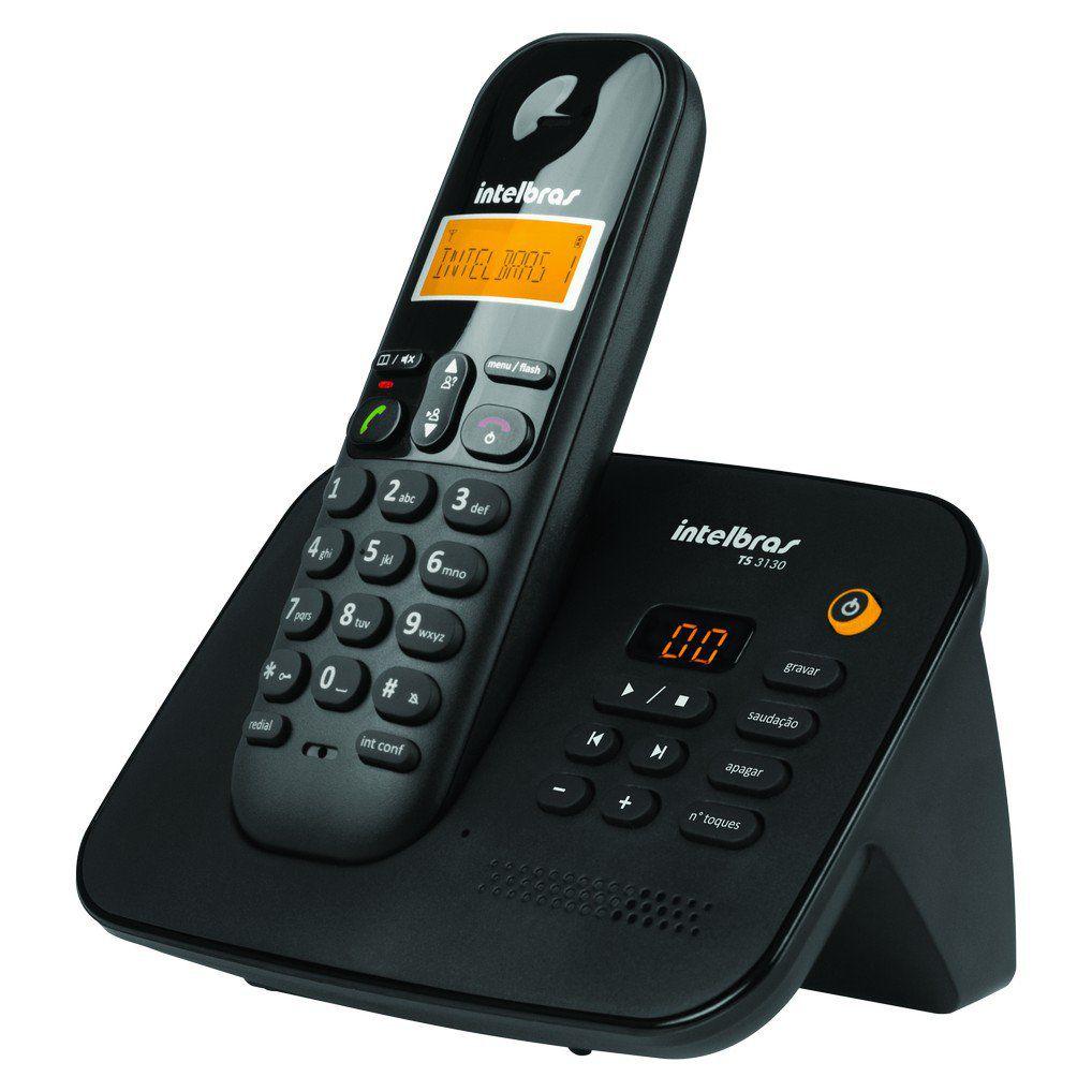 Telefone Sem Fio Intelbras TS 3130 com Secretária Eletrônica