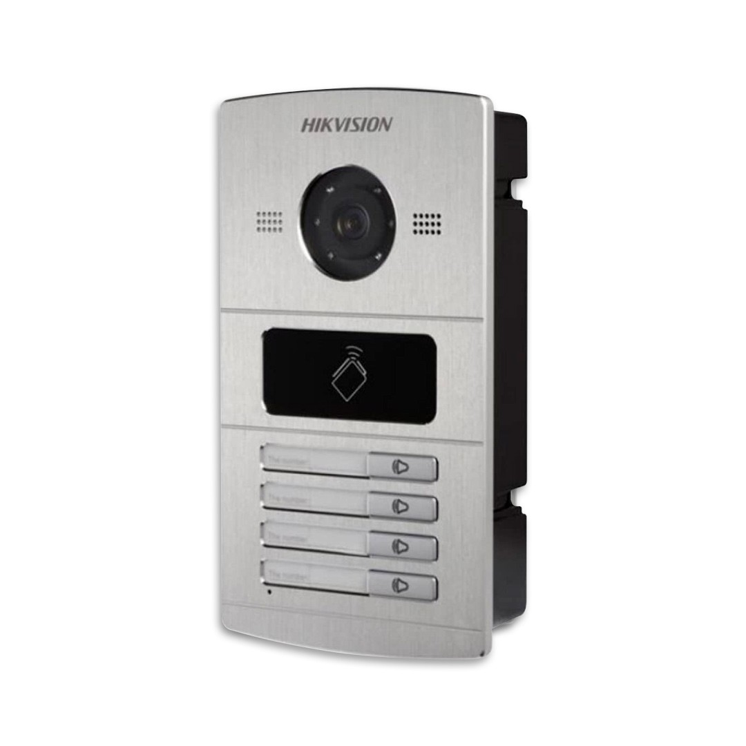 Vídeo Porteiro Hikvision IP 4 Teclas Unidade Externa