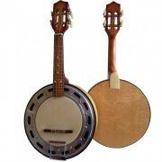 Banjo Clave Elétrico Acústico Sonora Natural Claro