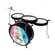 Bateria Luen Infantil Smart Drum Preta 44007PT