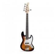 Contrabaixo Strinberg Jazz Bass 5C Sunburst Escudo Branco JBS45SB