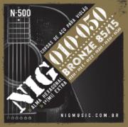 Encordoamento NIG N500 Violão Aço 0.10-0.50 Bronze 85/15