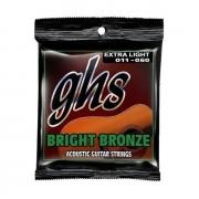 Encordoamento GHS Bright Bronze Violão Aço 11/50