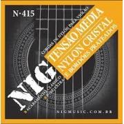 Encordoamento NIG N415 Violão Nylon Cristal Tensão Media