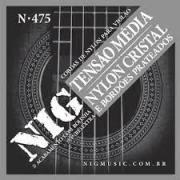 Encordoamento NIG N475 Violão Nylon Cristal Com Bolinha Tensão Média