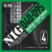 Encordoamento Nig N700 Baixo 4 Cordas 40-95