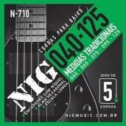 Encordoamento Nig N710 Baixo 5 Cordas 40-125