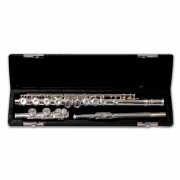 Flauta Transversal Schieffer Niquelada com Case Schf002