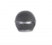 Globo para Microfone Mxt Metálico Prata Rosca 31mm