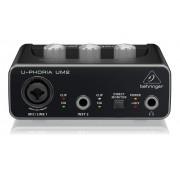 Interface De Áudio Behringer Usb U-phoria Um2 48 Khz