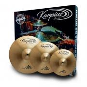 """Kit de Pratos Karpius ATS B20 14"""" 16"""" 20"""""""