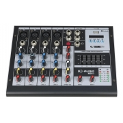 Mesa De Som K-Audio Bluetooth 6 Canais Usb Efeito Ms60