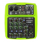 Mesa de som Mixer Custom Sound 4 Canais Usb Bluetooth CMX4CGR