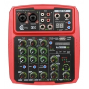 Mesa de som Mixer Custom Sound 4 Canais Usb Bluetooth CMX4CRD