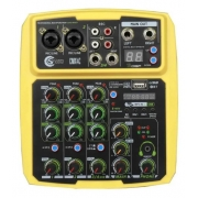 Mesa de som Mixer Custom Sound 4 Canais Usb Bluetooth CMX4CYW