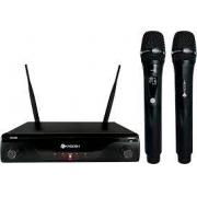 Microfone Kadosh s/ Fio Duplo UHF Profissional K412MR Recarregável