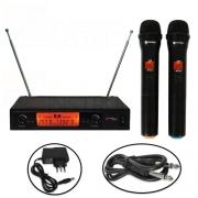 Microfone Kadosh Sem Fio K302M Duplo VHF