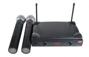 Microfone Leacs Duplo Sem Fio de Mão UHF LC202