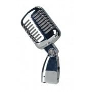 Microfone Leacs Retro Clássico de Cromado LC55