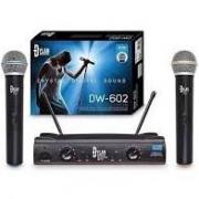 Microfone Sem Fio Dylan DW-602 UHF Duplo