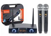 Microfone Sem Fio Karsect Krd200dm Duplo Mão