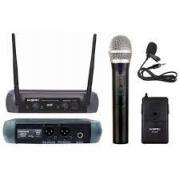 Microfone Sem Fio KSR Mão e Lapela UHF
