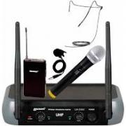 Microfone Sem Fio Lexsen LM 258u Kit Mão/Head/Lapela UHF