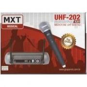 Microfone Sem Fio MXT R201 UHF202 Mão Individual