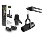 Microfone Shure MV7 Podcast Preto
