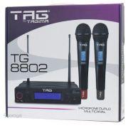 Microfone Tagima TG8802 Duplo de Mão sem fio