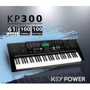 Teclado Kadosh Key Power 61 Teclas 100 Timbres e Ritmos KP300