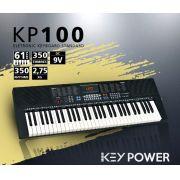 Teclado Kadosh Key Power 61 Teclas 350 Timbres e Ritmos KP100